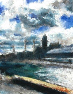 Bosselin peintre verrier le havre for Toile a bassin